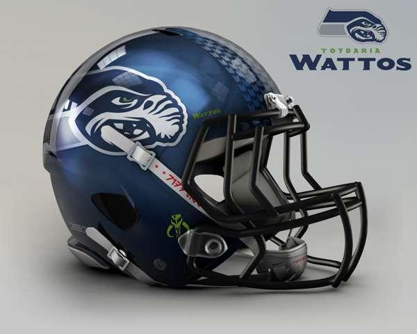 Seattle Seahawks toydaria wattos nfl team helmet star wars costum img