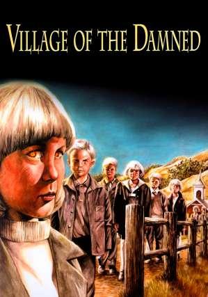 horror films anagrams - Village Of The Damned horror film poster