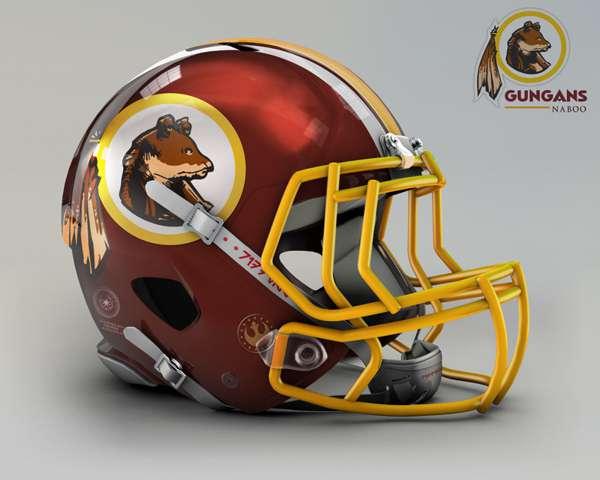 Washington Redskins gungans naboo nfl team helmet img nfl team helmet star wars costum img