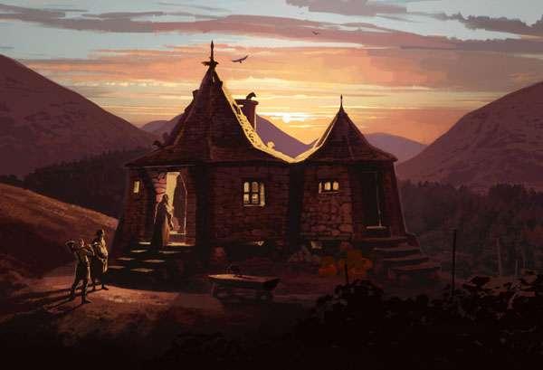 hagrid live in a hut image - potterhead quiz