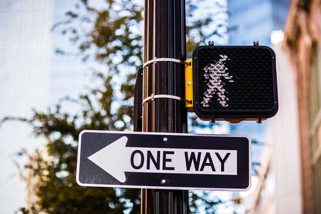 one way road-sign-on-pole
