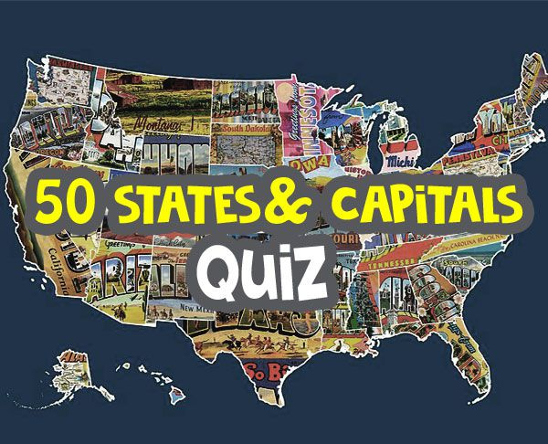 50 states and capitals quiz image