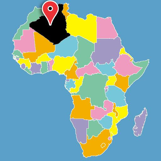 africa map quiz - algeria-blank-map
