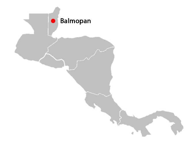 central american countries and capitals map - balmopan-blank-map