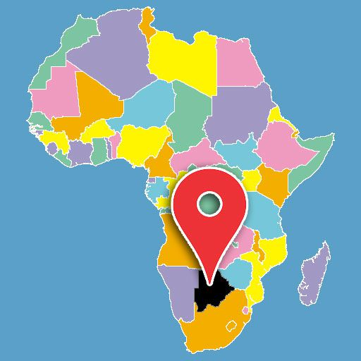 africa map quiz - bostwana-blank-map