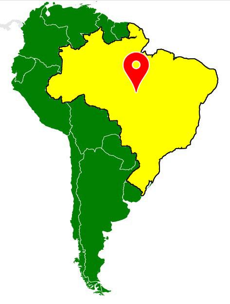 south america map - brazil-blank-map