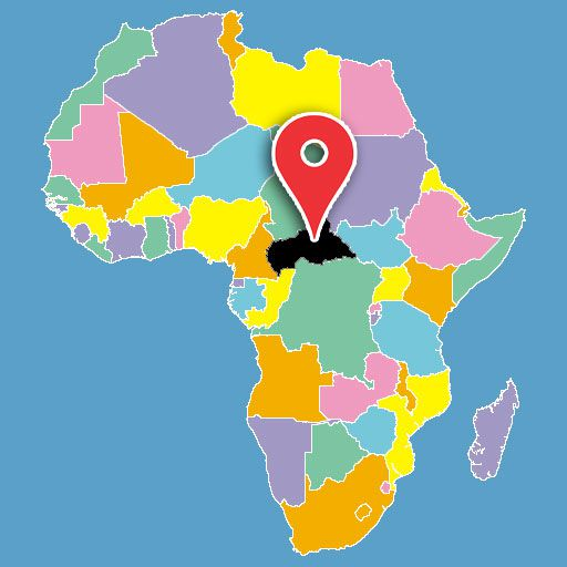 africa map quiz - central-african-republic-blank-map