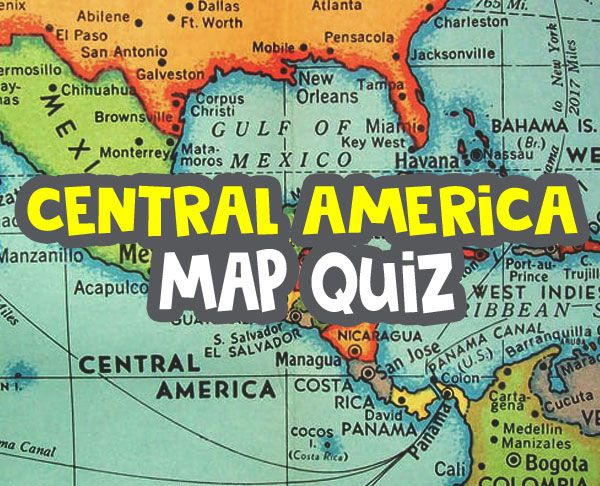 central america map quiz image