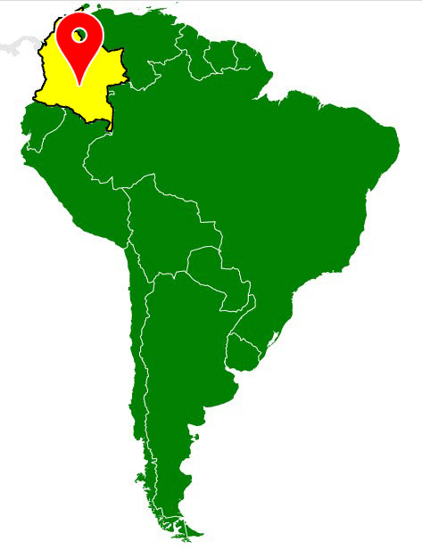 south america map - colombia-blank-map