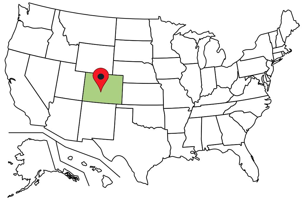 colorado blank-map