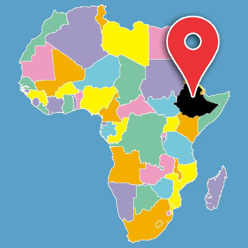 africa map quiz - ethiopia-blank-map