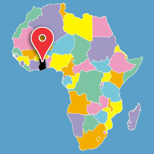 africa map quiz - ghana-blank-map