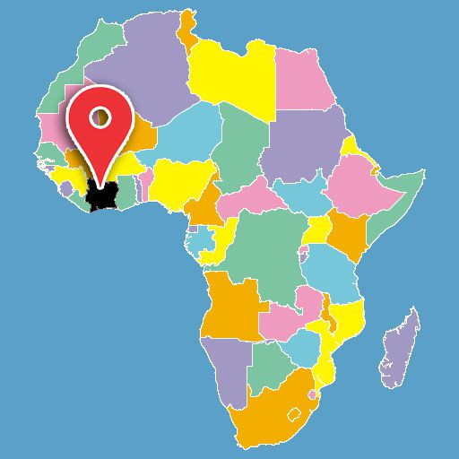 africa map quiz - ivory-coast-blank-map
