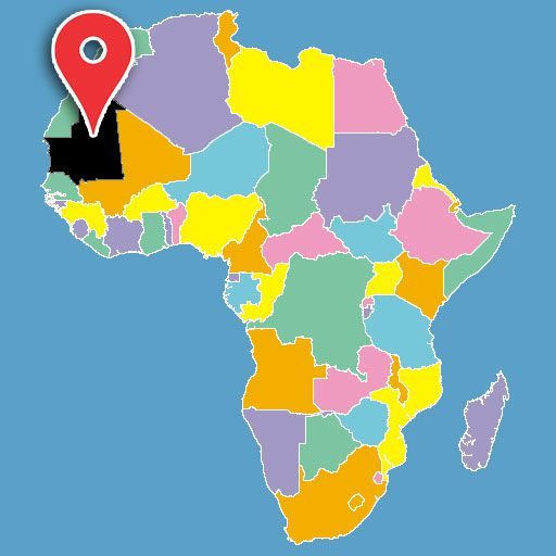 map of africa quiz - mauritania-blank-map