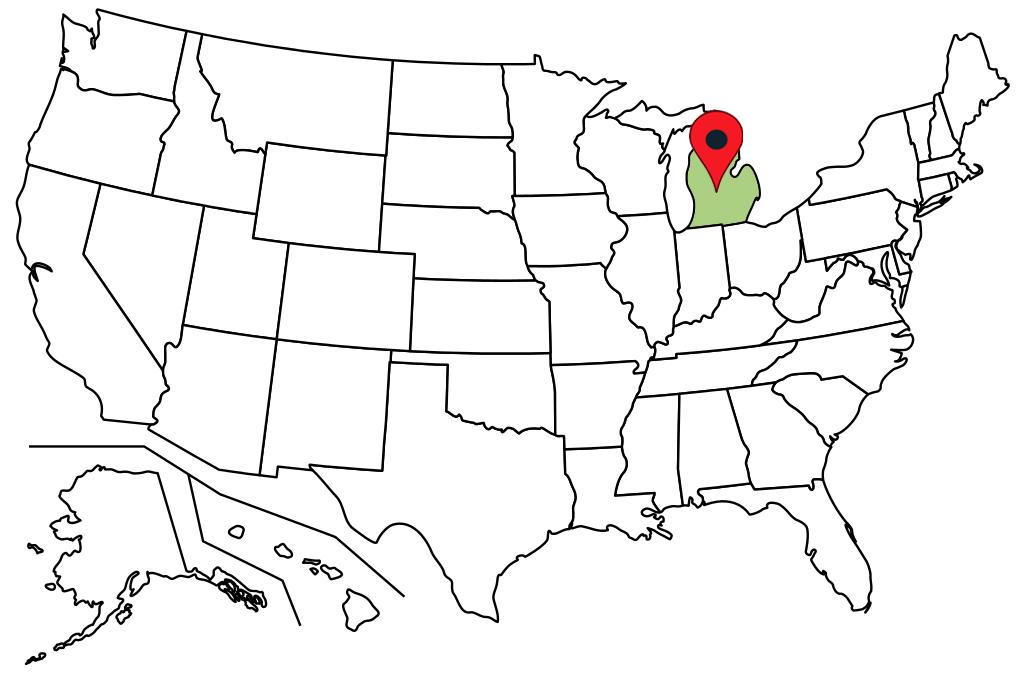 michigan-blank-map