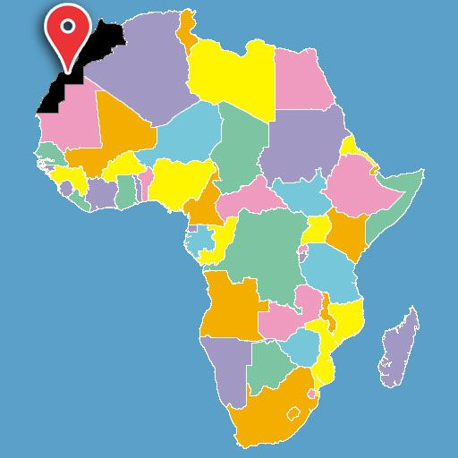 map of africa quiz - morocco-blank-map