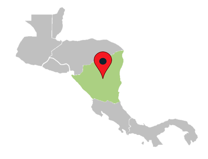 central america map quiz - nicaragua-central-america-blank-map