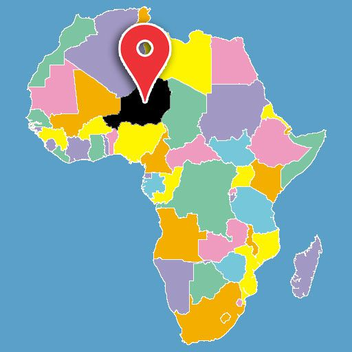 map of africa quiz - niger-blank-map