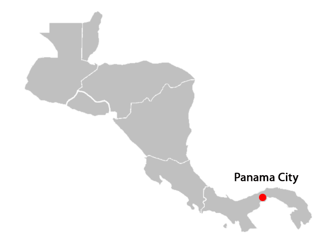 central american countries and capitals map - panama-city-blank-map