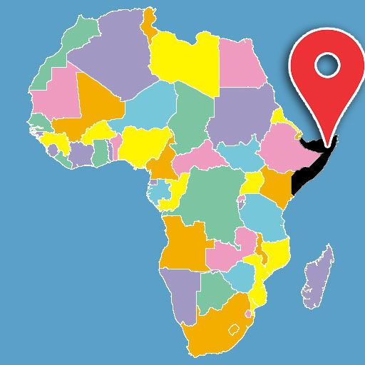 map of africa quiz - somalia-blank-map