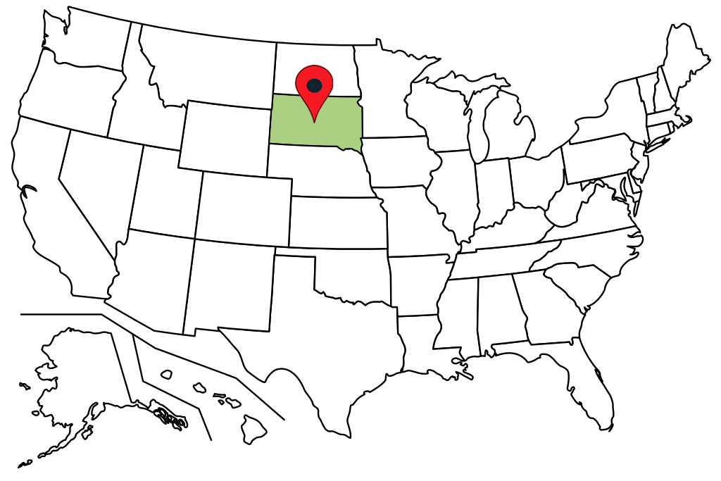south-dakota-blank-map