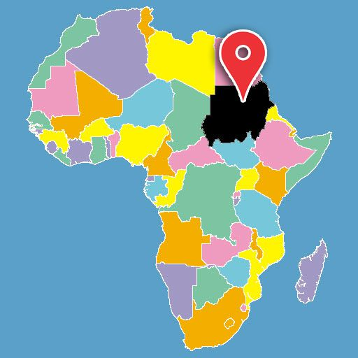 map of africa quiz - sudan-blank-map