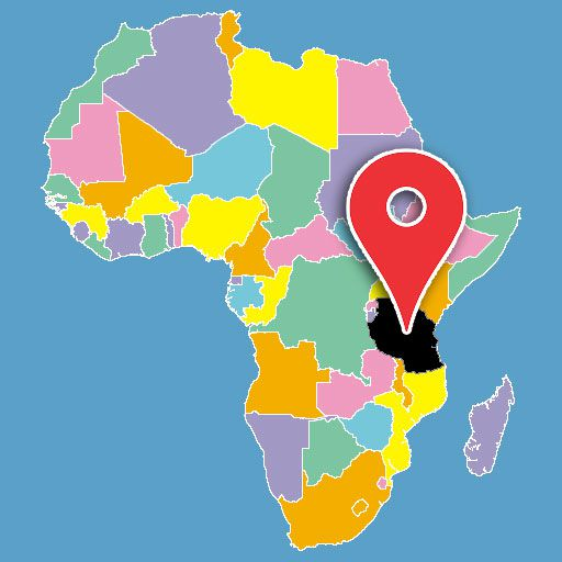 map of africa quiz - tanzania-blank-map