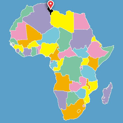 map of africa quiz - tunisia-blank-map