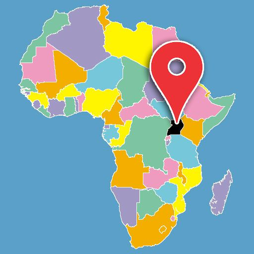 map of africa quiz - uganda-blank-map
