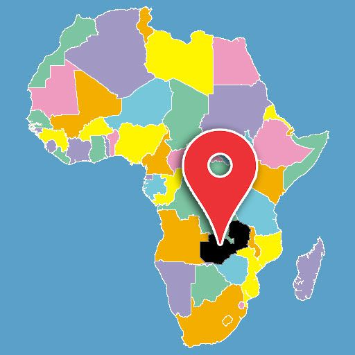 map of africa quiz - zambia-blank-map