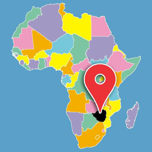 map of africa quiz - zimbabwe-blank-map